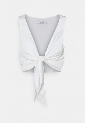 TIE FRONT - Top - offwhite