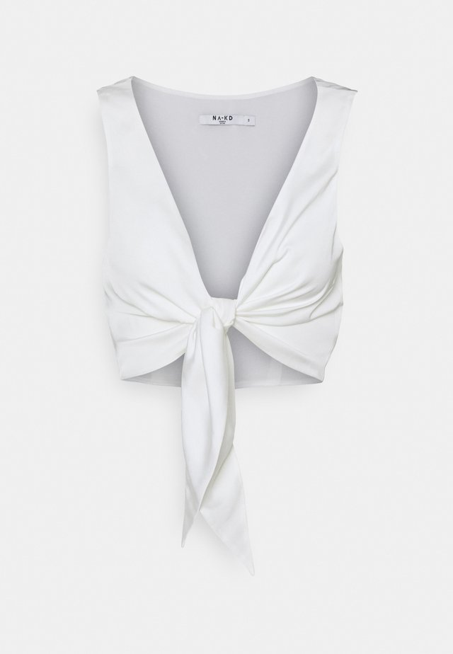 TIE FRONT - Toppe - offwhite