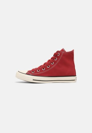 CHUCK TAYLOR ALL STAR NATIONAL PARKS PATCH UNISEX - Korkeavartiset tennarit - claret red/black/egret