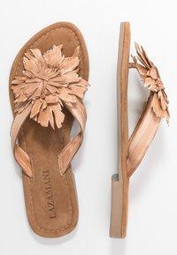 Lazamani - T-bar sandals - tan - 3