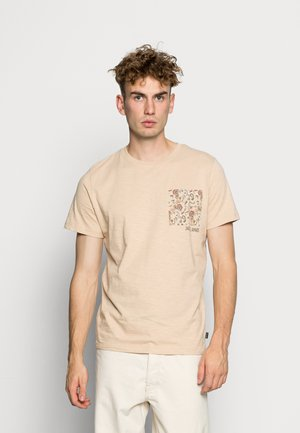 JPRLAY TEE  - Print T-shirt - irish cream
