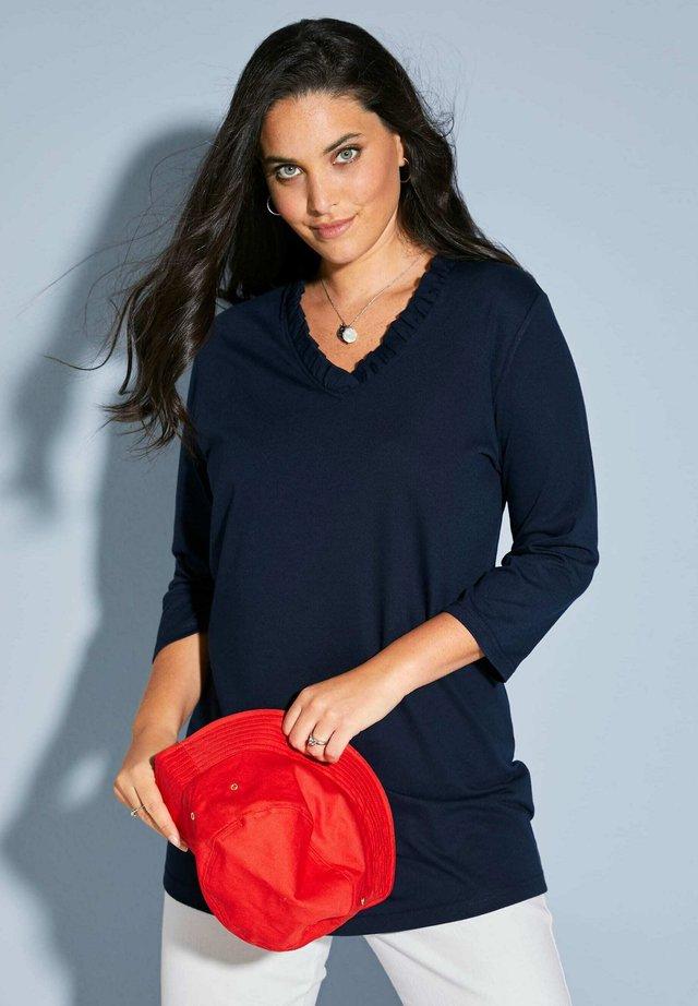 Long sleeved top - marineblau