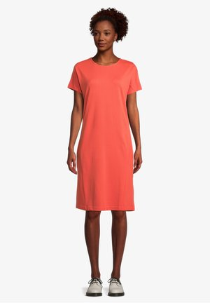 Jersey dress - papaya orange