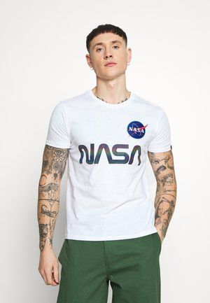 NASA RAINBOW  - Print T-shirt - white