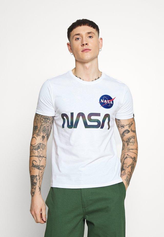 NASA RAINBOW  - T-shirt con stampa - white