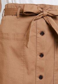 TOM TAILOR DENIM - UTILITY SKIRT - Áčková sukně - warm beige/brown - 4