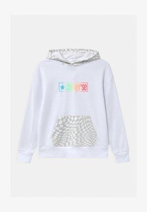 CHECKER HOODIE - Sweatshirt - white