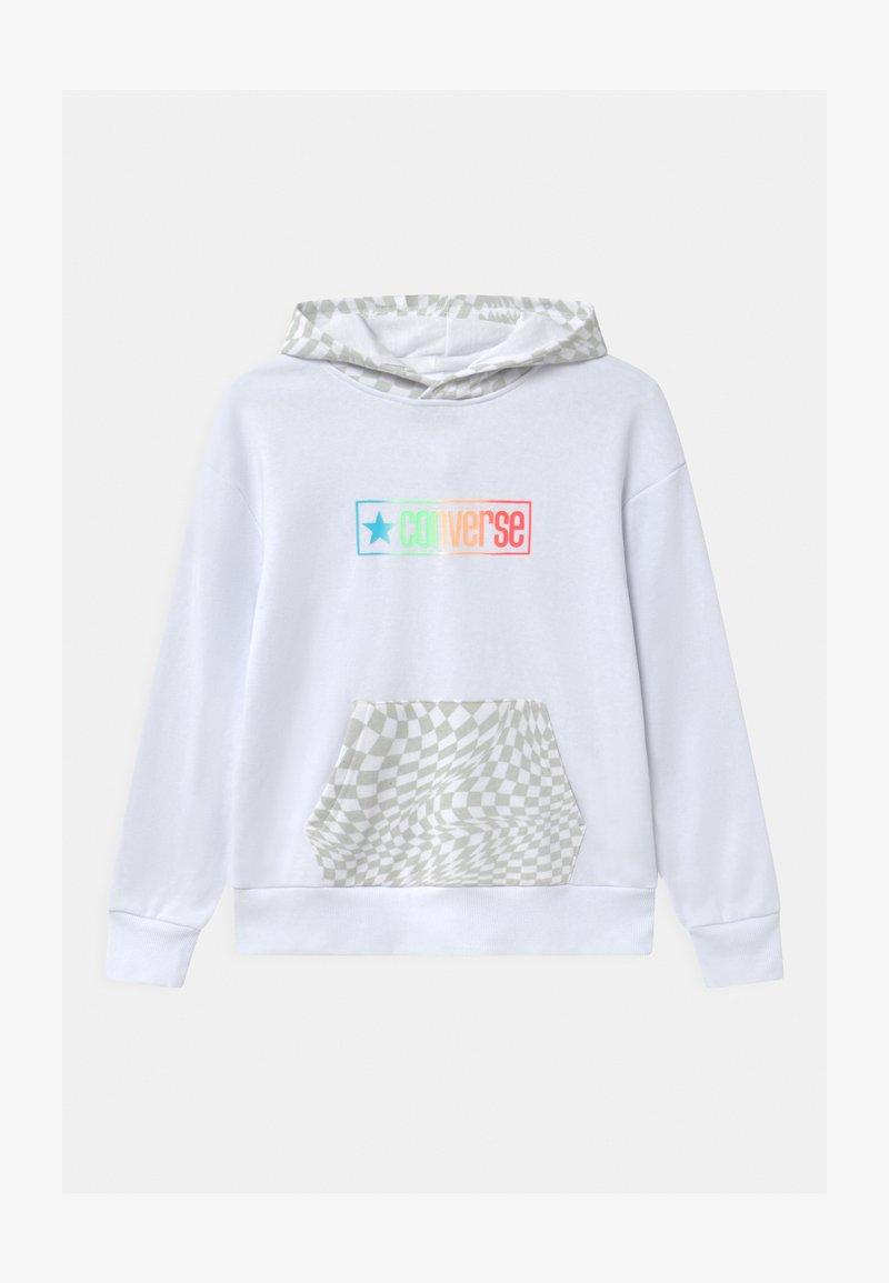 Converse - CHECKER HOODIE - Sweatshirt - white
