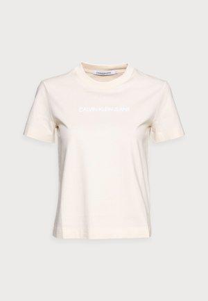 SHRUNKEN INSTITUTIONAL TEE - Print T-shirt - beige