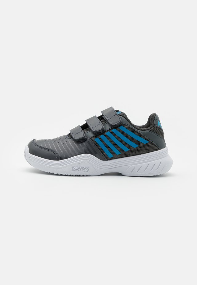 COURT EXPRESS STRAP OMNI UNISEX - Chaussures de tennis toutes surfaces - dark shadow/white/swedish blue