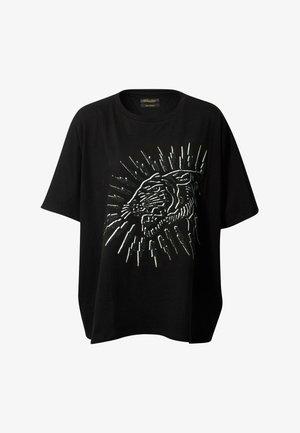 TIGER LIGHTNING OVERSIZED TOP - Print T-shirt - black