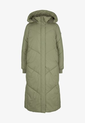 Winter coat - deep olive green