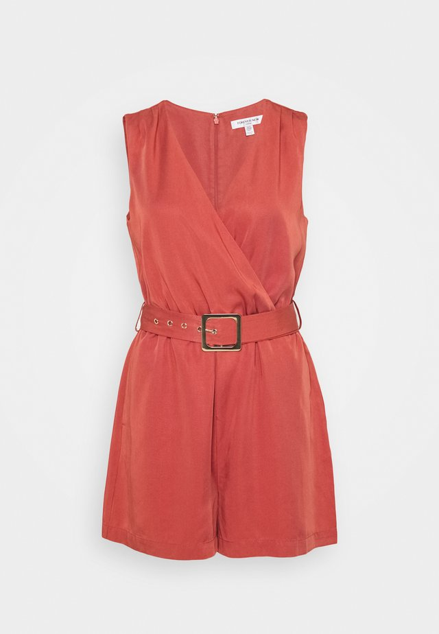 ASHER WRAP PLAYSUIT - Jumpsuit - raspberry whip