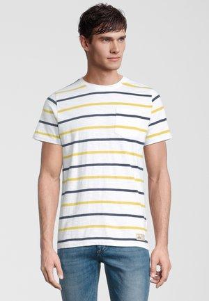 AWE - T-shirt print - white/blue/yellow