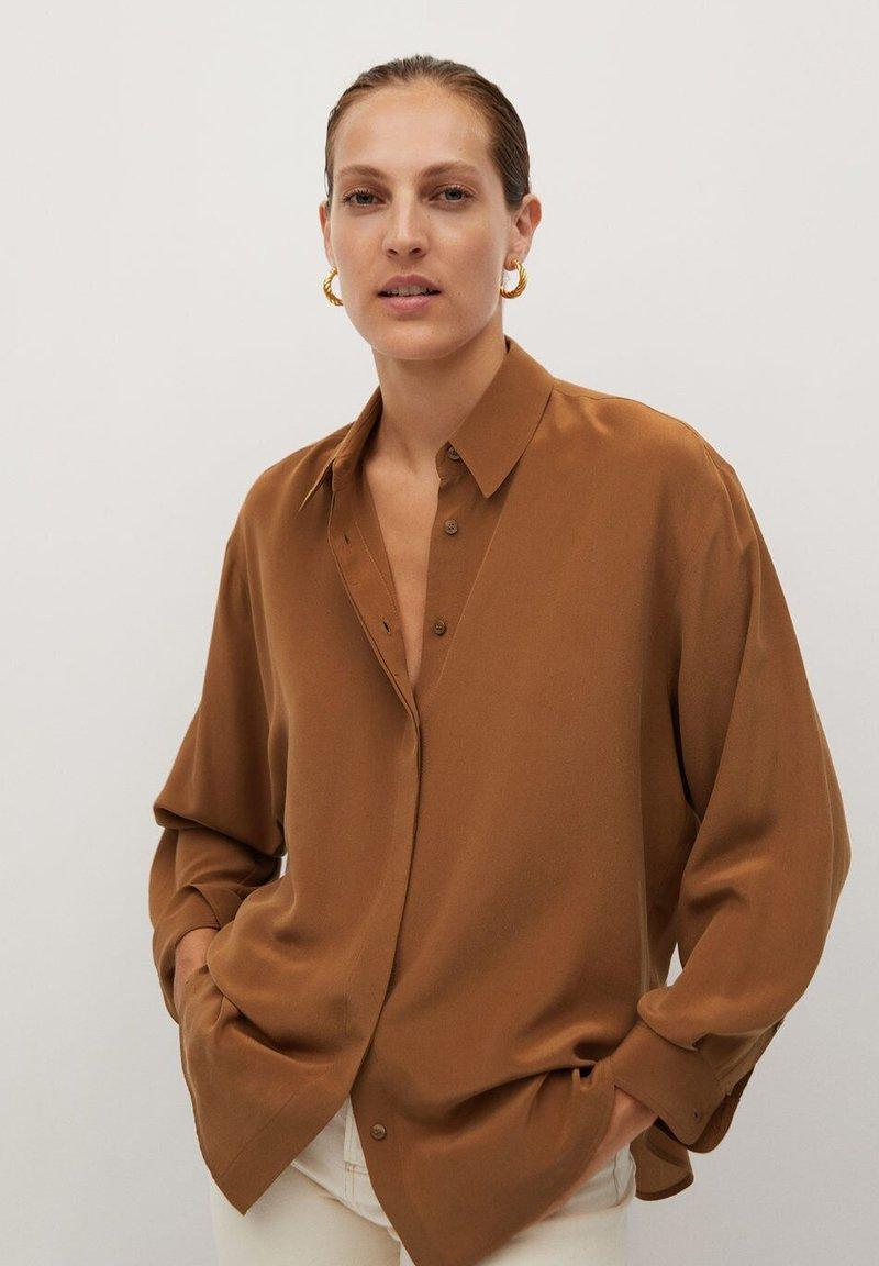 Mango - MADE - Button-down blouse - braun