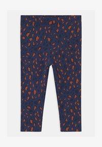 TINYCOTTONS - ANIMAL PRINT - Leggings - Trousers - light navy/dark brown - 0