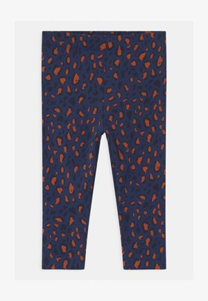ANIMAL PRINT - Leggings - Trousers - light navy/dark brown