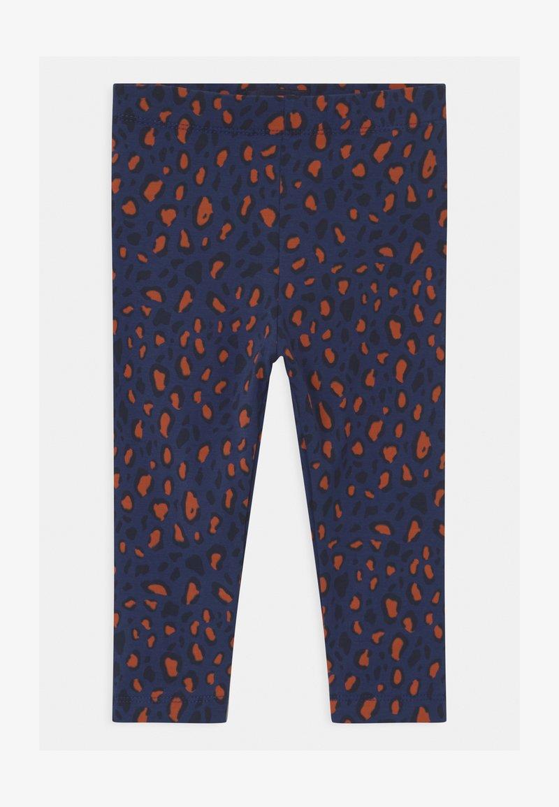 TINYCOTTONS - ANIMAL PRINT - Leggings - Trousers - light navy/dark brown
