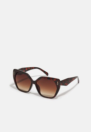RETRO SQUARE - Sunglasses - brown mix