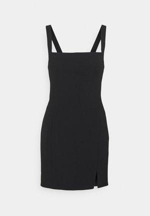 CLASPED MINI DRESS - Sukienka koktajlowa - black