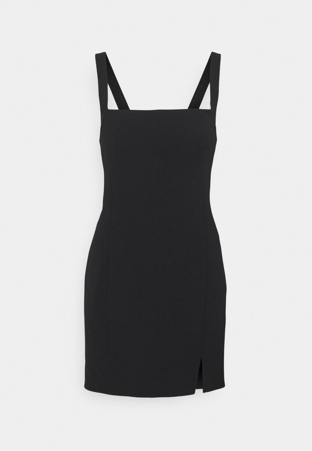 CLASPED MINI DRESS - Cocktail dress / Party dress - black