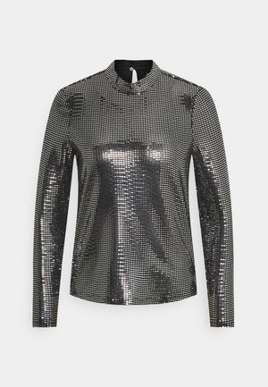 VMKYLIE HIGHNECK - Blouse - black/silver
