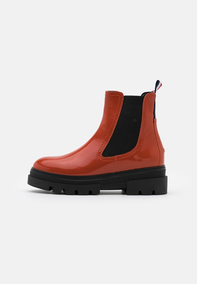 CLASSIC CHELSEA BOOT - Platform ankle boots - orange