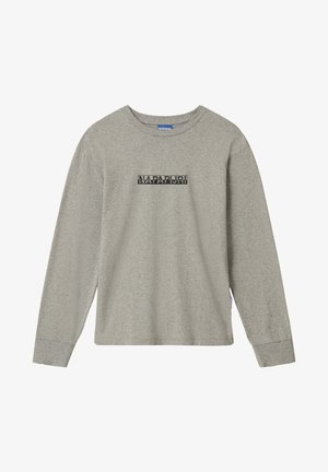 S-BOX LS - Long sleeved top - medium grey melange