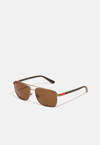 Sunglasses - semi-shiny brass-coloured