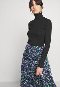 Lauren Ralph Lauren - CRINKLE SKIRT - Áčková sukně - black/multi - 3