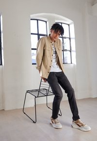 TOM TAILOR DENIM - SLIM PIERS - Jeans slim fit - dark stone black denim - 4