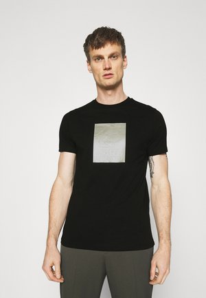 CREWNECK - Print T-shirt - black/silver