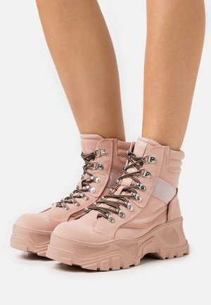 FENDO - Platform ankle boots - pink