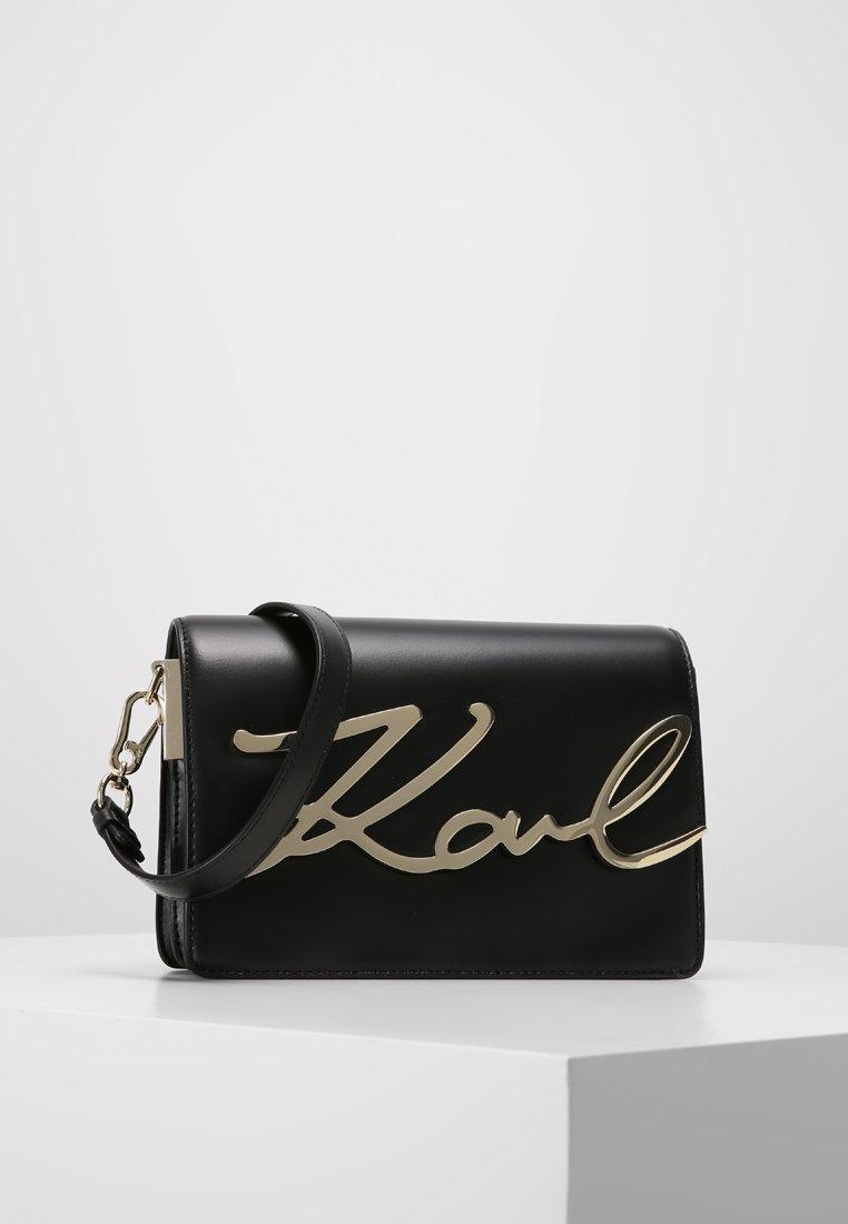 KARL LAGERFELD - SIGNATURE - Across body bag - black
