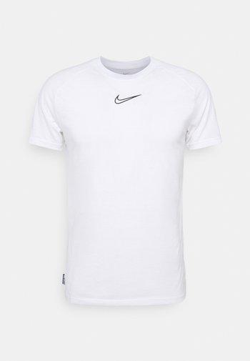 DRY - T-shirt z nadrukiem - white/black