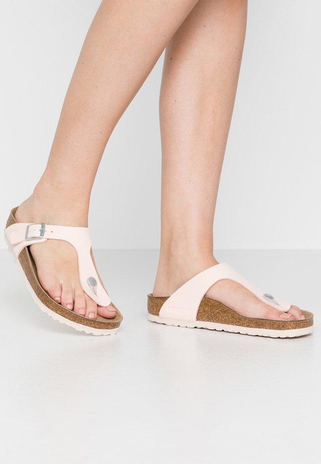 GIZEH - T-bar sandals - brushed light rose