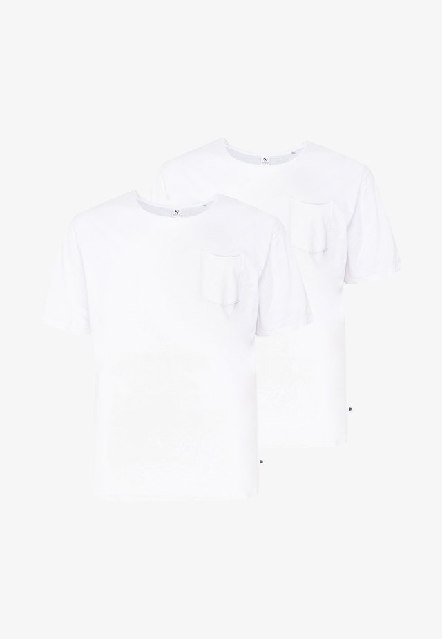 BASIS TEE SINGLE 2 PACK - T-shirt - bas - white