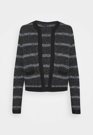 OPEN COLLARLESS  - Cardigan - black/multi