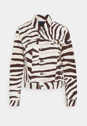 PERTH WASH - Denim jacket - black/white