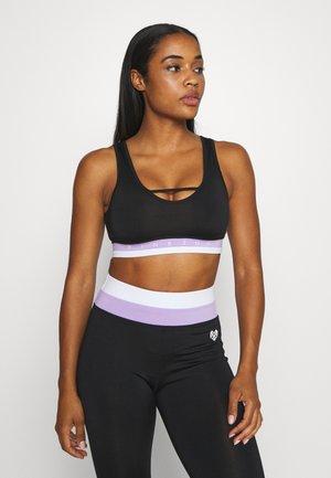 KOI BRA - Sport-bh met medium support - black/lilac/white