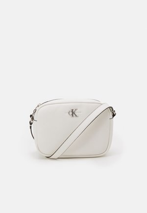 DOUBLE ZIP CROSSBODY - Olkalaukku - white