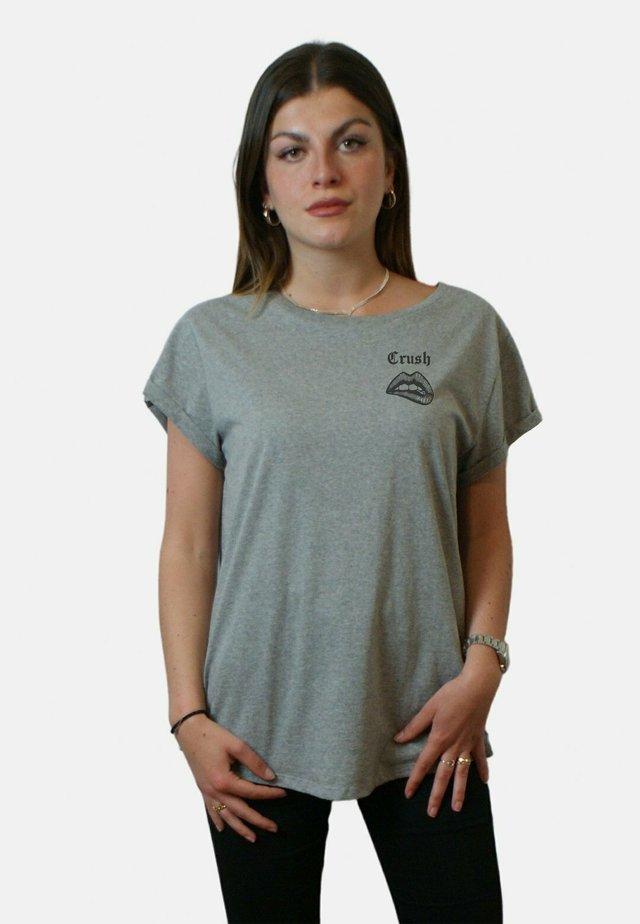 CRUSH - T-shirt imprimé - mottled grey