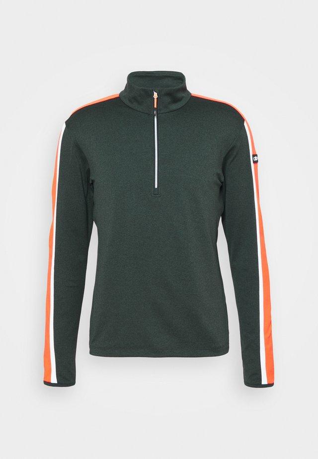MAN - Sweatshirt - nero melange/orange fluo
