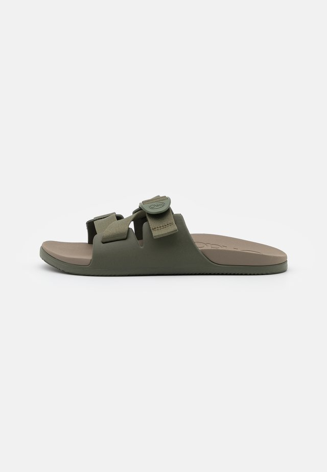 CHILLOS SLIDE - Sandalias planas - green