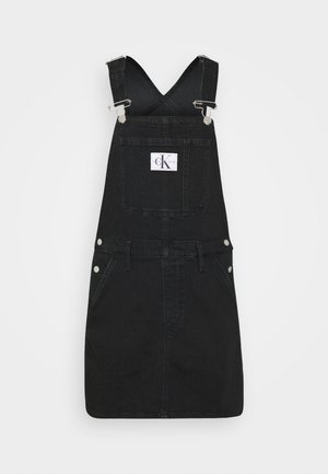 OVERALL DRESS - Denimové šaty - washed black