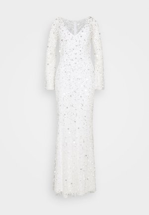 ALL OVER 3D EMBELLISHED MAXI DRESS - Abito da sera - ivory