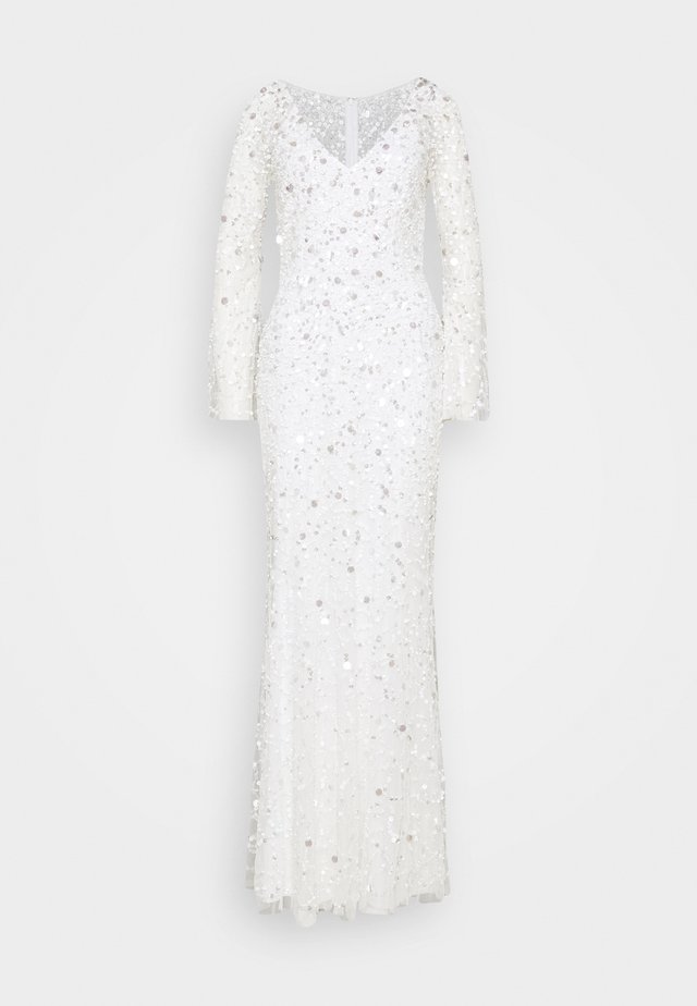 ALL OVER 3D EMBELLISHED MAXI DRESS - Ballkjole - ivory