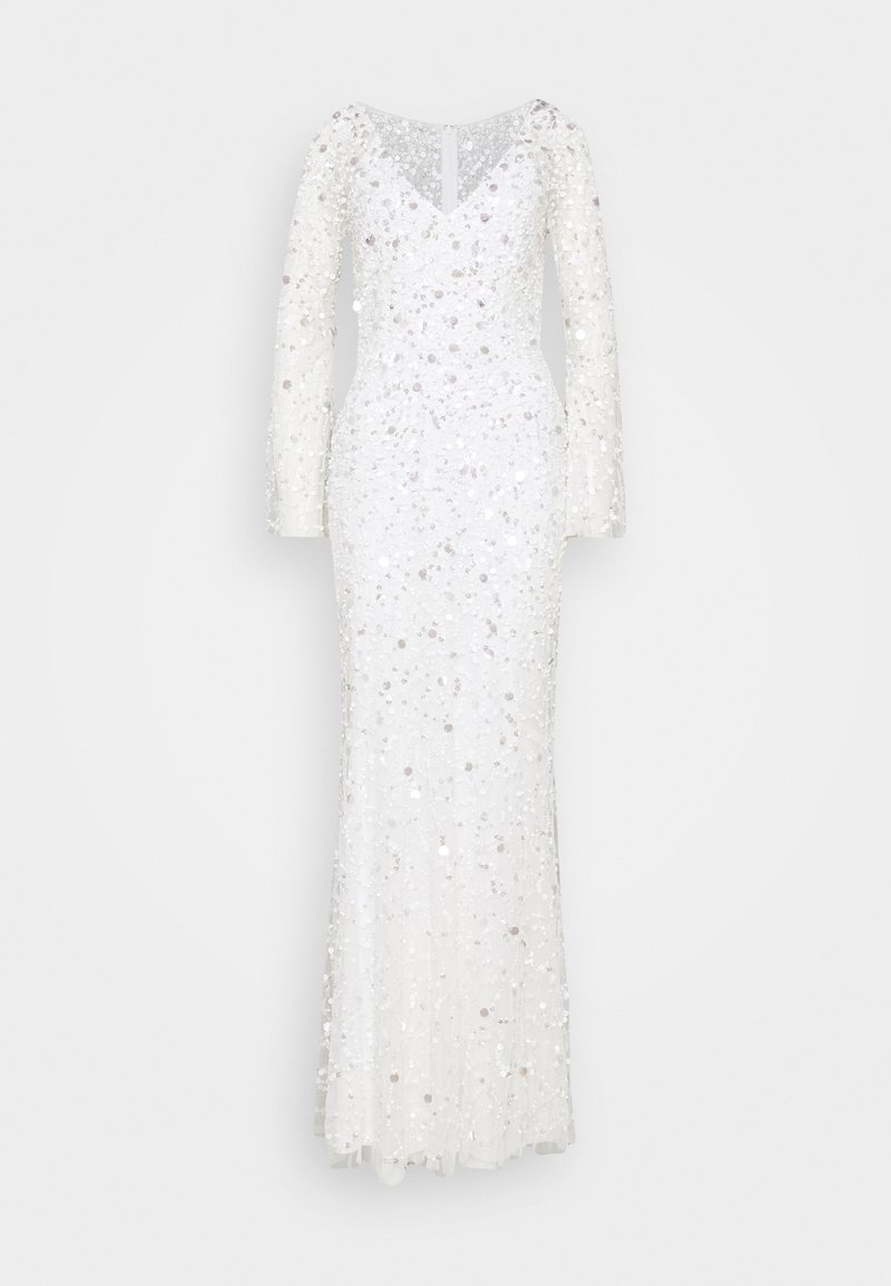 Maya Deluxe - ALL OVER 3D EMBELLISHED MAXI DRESS - Abito da sera - ivory