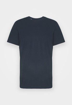 SLHNORMAN O NECK TEE  - Jednoduché triko - navy blazer