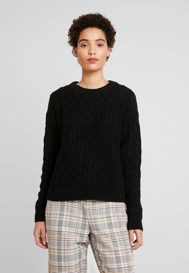 CABLE CREW - Pullover - true black